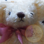 ตุ๊กตาหมีผ้าขนสีครีมขนาด 22 cm. - Ivy