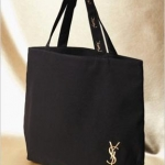 YSL tote with embroidered logo