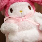 cute&cuddle My Melody roll-up fleece blanket