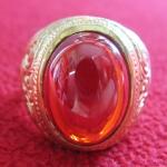 แหวนพลอยมณีใต้น้ำ(เพชรพญานาค)สีแดงเนื้อทองเหลือง(ทุกราศี)ค่ะ