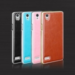 กรอบอลูมิเนียม Oppo Mirror 5 (A51) พร้อมฝาหลังหนัง .. สุดหรู !!
