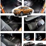 พรมปูพื้นรถยนต์ Nissan Navara NP 300 ลายกระดุม เข้ารูป100%