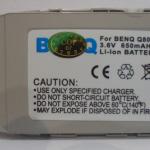แบตเตอรี่ BenQ_Q80