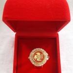 สินค้าหมดค่ะ แหวนกังหัน4ใบ รุ่นล้อมเพชร เสริมดวงเนื้อทองเหลืองชุบทองพร้อมกล่องกำมะหยี่ค่ะ