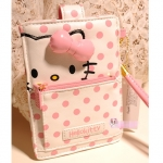 [Preorder] ซองใส่ไอโฟน, HTC, Samsung ลายจุดสกรีนลายแมวเหมียวคิตตี้น่ารักๆ Lovely hello Kitty Pink Polka Dot cell phone pocket Bag Case iPhone5 HTC Samsung Korea's foreign trade