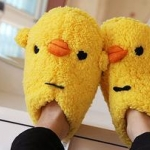 San-X รองเท้า Chicken ขนปุกปุย น่ารักเชียว