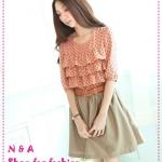 เดรสแขนสามส่วนระบายลายจุด Burst shall limit ☆ ☆ the sleeve Shuiyu dress * spring sweet