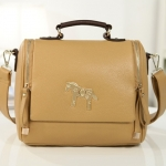 [Preorder] กระเป๋าแฟชั่นสะพายข้างสไตล์ retro สีน้ำตาล 2013 new Korean candy colored retro pony female Shoulder Messenger bag tide