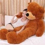 ตุ๊กตาหมีหลับ ตัวใหญ่ ขนาด 1.8 เมตร สีน้ำตาลเข้ม
