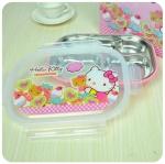พร้อมส่งค่ะ Hello Kitty กล่องข้าวstainlessแบบถาด พร้อมฝาปิด บรรจุมาในกล่องสีสวยเลยจ้า