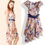 ily's life in Europe and America retro chiffon dress