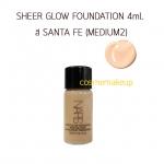 Nars Sheer Glow Foundation # SANTA FE (medium 2) ขนาดทดลอง 4 มล สำหรับผิวขาวกลาง - สองสี