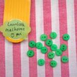 กระดุมสีเขียวขนาด 5 mm 1 แพคมี15 เม็ด