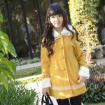 NEW !! ( รหัสสินค้า KC-01) เสื้อกันหนาว เสื้อโค้ทสไตส์เกาหลี มีขนเฟอร์ที่คอและข้อมือสุดน่ารัก สีเหลืองสุดฮิต