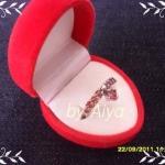 แหวนเงินแท้ชุบทองคำขาว ประดับพลอยสเปสซาไทท์ จากศรีลังกา