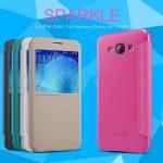 เคสหนังฝาพับ Samsung Galaxy A8 ยี่ห้อ Nillkin Sparkle Leather