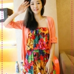 จั๊มสูทแฟชั่นสีสันสดใส Spring and summer of 2012 the new Women Korea brilliant colors of flowers flounced piece shorts jumpsuit