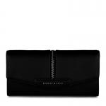 พร้อมส่งค่ะ Charles&Keith leather zip wallet สีดำ พร้อมtag+dust bag