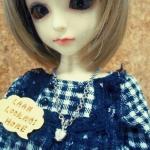 LMA4 สร้อยคอจี้เพชรรูปหัวใจสำหรับตุ๊กตาBJD นางแบบเป็นMSD(1/4BJD)