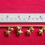 สินค้าจองค่ะ สร้อยข้อมือทองเหลือง+จี้รูปดาวค่ะ