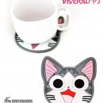 ที่รองแก้วแมวจี้(1ชิ้น)