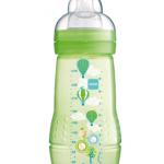 ขวดนมมัม MAM Thailand bpa free สีเขียว 9.5 oz 1 ขวด (ไม่ป้องกันโคลิค เหมาะกับเด็กอายุ 6 เดือนขึ้นไป)
