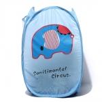 พร้อมส่ง ตะกร้าใส่ผ้าแบบ pop up ช้างน้อย Sentimental Circus