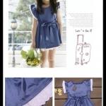 พร้อมส่ง Size 90 มินิเดรสสาวน้อย ผ้ามันสีน้ำเงินสดใส ใส่แล้วคุณหนูมากๆค่ะ ( 1 – 2.5 ขวบ) (85 – 99 cm.) (10 – 12 kg.)