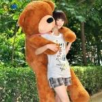 ตุ๊กตาหมีหลับ ตัวใหญ่ ขนาด 1.6 เมตร สีน้ำตาลเข้ม