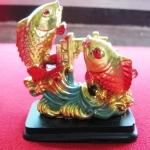 สินค้าหมดค่ะ ปลาหลีฮื้อคู่สีทองซุ้มประตูทองเสริมโชคลาภ เสริมดวงค้าขายค่ะ