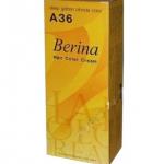 Berina เบอริน่า ครีมย้อมผม A36 บลอนด์เข้มประกายทอง