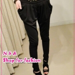 กางเกงขายาวสีดำ Spring and summer of 2012 the Korean version of the new Women Slim thin personality Leopard feet harem pants trousers
