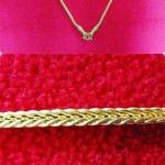 สร้อยคอทองลายกระดูกงูสี่เสาทำจากเหรียญ25,50ส.ต.(ใส่คู่กับพระได้)แบบยาวค่ะ