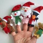 Christmas Finger Dolls ตุ๊กตานิ้วมือคริสต์มาส เซตละ 5 ตัว