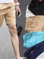 กางเกงขาสั้นผู้ชายเอวยางยืด