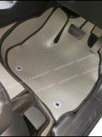 ยางปูพื้นรถยนต์ HONDA HR-V รุ่น MINI MAT พรมกระดุมเม็ดเล็ก สีเทาขอบดำ