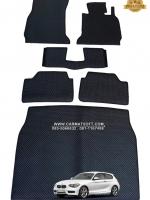 ยางปูพื้นรถยนต์ BMW SERIES 1 F20 พรมกระดุมpvc รุ่น minimat กระดุมเม็ดเล็ก สีดำ +แผ่นปูท้ายรถ (6 ชิ้น) พรมปูพื้นลายกระดุม BMW F20 ตัดเข้ารูป100% สวยงาม ทนทานที่สุด ป้องกันน้ำ กันโคลน กันเปื้อนได้ดี
