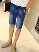 กางเกงยีนส์ขาสั้น