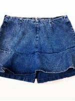(พร้อมส่ง)กางเกงกระโปรง สียีนส์อ่อน ผ้ายีนส์ คุณภาพดี
