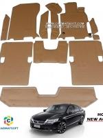 ยางปูพื้นรถยนต์ NEW ACCORD G9 รุ่นMiniMat กระดุมเม็ดเล็ก PVC รีดขอบ สีชามัวร์ (เต็มคัน) สวยงาม หรูหรา แนวสปอร์ต เข้ารูป 100% ทนทานที่สุด