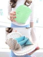 (พร้อมส่ง)กระเป๋าสตางค์เกาหลี น่ารัก เกรดพรีเมี่ยม สีเขียว