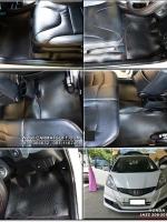 ยางปูพื้นรถยนต์ JAZZ GE 2008-2013 พรมกระดุมpvc รุ่น minimat กระดุมเม็ดเล็ก สีดำด้ายแดง (12 ชิ้น) พรมปูพื้นลายกระดุม JAZZ GE ตัดเข้ารูป100% สวยงาม ทนทานที่สุด ป้องกันน้ำ กันโคลน กันเปื้อนได้ดี