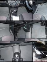 ยางปูพื้นรถยนต์ ALMERA พรมลายธนู สีเทาขอบดำ 12 ชิ้น เต็มคัน เข้ารูป 100%