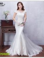Pre ชุดแต่งงาน ทรงหางปลา มีไซด์ XS/S/M/L/XL/XXL