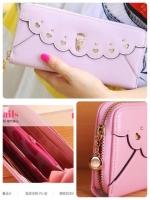 (พร้อมส่ง)กระเป๋าสตางค์นำเข้า แฟชั่นเกาหลี นกฮูก น่ารัก สี Elegant (สีตามภาพค่ะ)