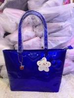(พร้อมส่ง)กระเป๋า คิตตี้ ใบใหญ่น่ารักสุดๆ สีน้ำเงิน