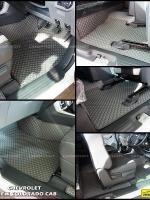 ยางปูพื้นรถยนต์ NEW COLORADO CAB พรมลายกระดุม สีเทา 10ชิ้น เต็มคัน เข้ารูป 100% (มีปุ่มกันลื่น)