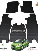 ยางปูพื้นรถยนต์ JAZZ GE 2008-2013 พรมกระดุมpvc รุ่น minimat กระดุมเม็ดเล็ก สีดำ (5 ชิ้น) พรมปูพื้นลายกระดุม JAZZ GE ตัดเข้ารูป100% สวยงาม ทนทานที่สุด ป้องกันน้ำ กันโคลน กันเปื้อนได้ดี