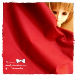 TC4 : ผ้าพื้นคอตตอน 100 % แดงเลือดหมู แหล่งหาในไทยค่ะ -ขนาด 1/4 เมตร(50x55cm)