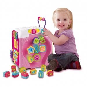 กล่องกิจกรรม Vtech Alphabet Infant Discovery Fun Activity Cube - Pink